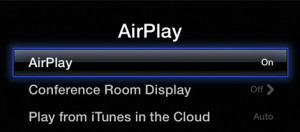 Apple TV AirPlay Settings