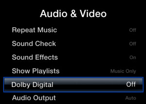 Apple TV No Audio Fix
