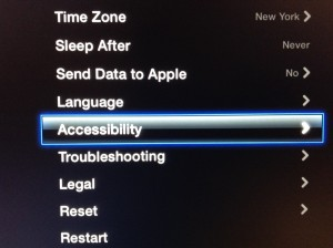 Apple TV Accessibility